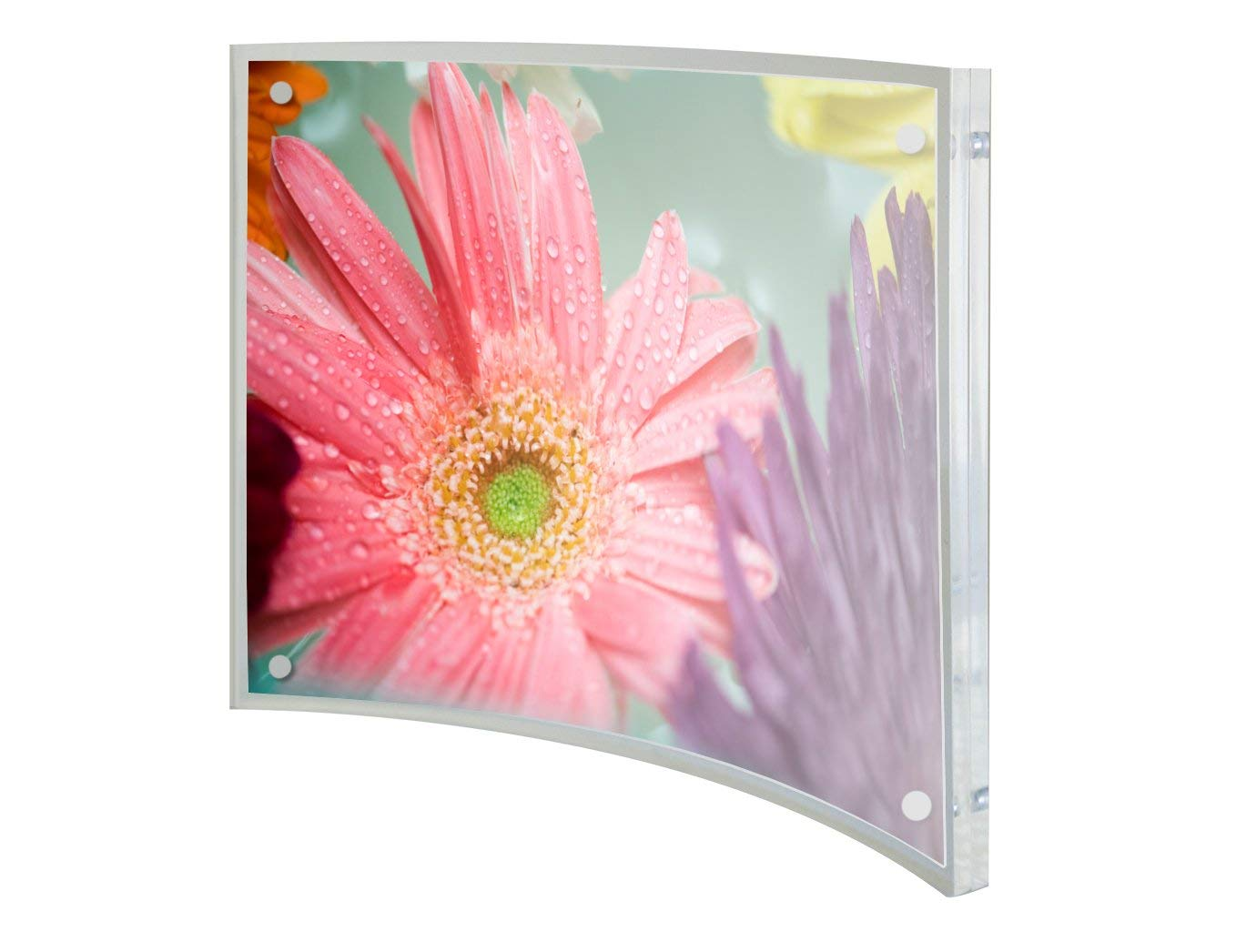 Relnin 5x7 Picture Frame Acrylic Magnetic Curved Clear Photo Frame for Family and Friends