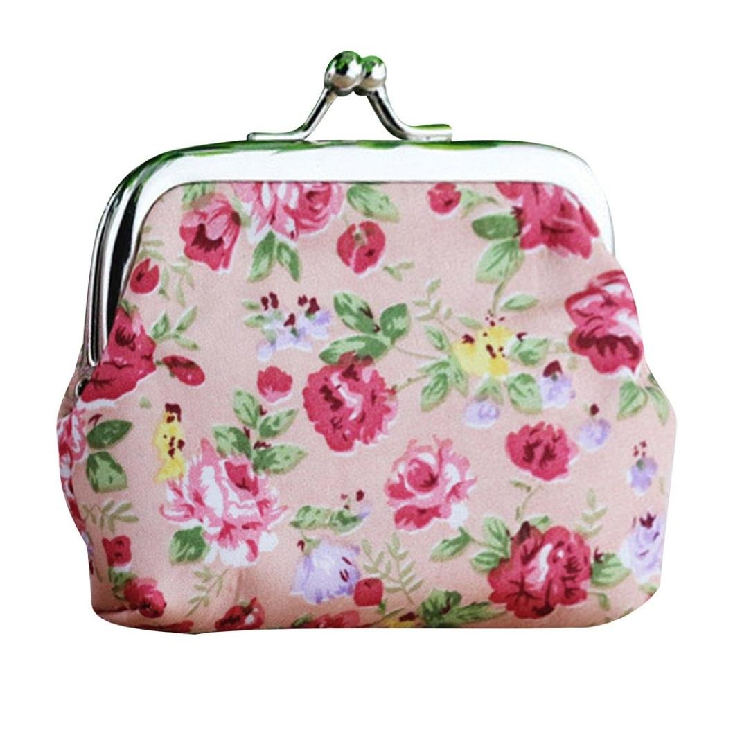 Cheap pink coach purse find pink coach purse deals on line at get quotations wallet sukeq women girls vintage flower small wallet hasp purse clutch bag mini coin purse mightylinksfo
