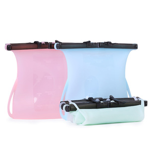 Z15 Silicone Refrigerator Fresh Bag, Silicone Reusable Sandwich Bag, Vacuum Silicone Food Storage Bag
