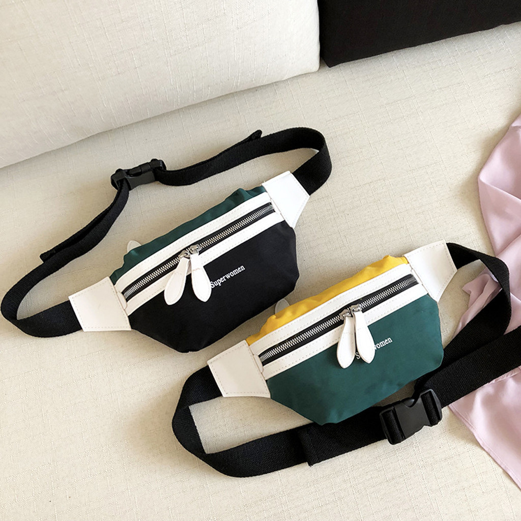 Fashion Canvas Custom Fanny Pack Waist Bag for Women Men