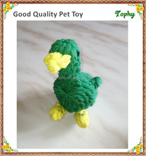 Dog Pet Chew Rope duck Shape Green Cotton Rope Toys