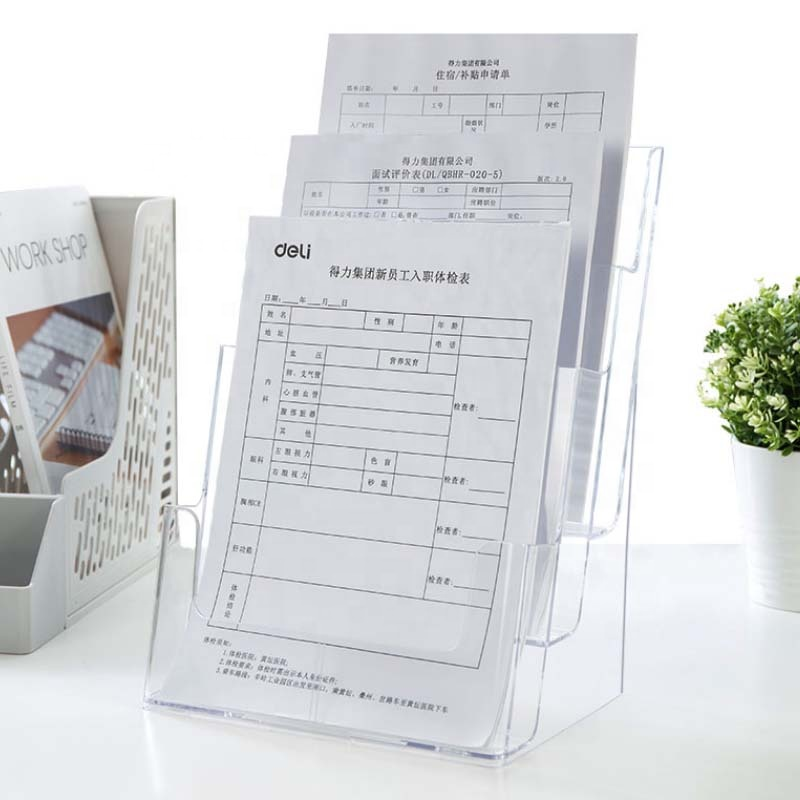 A4 custom document papier plastic presentatie plastic acryl display case map