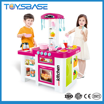 Toysbase electric childs mini kitchen set toy with sound and light ...