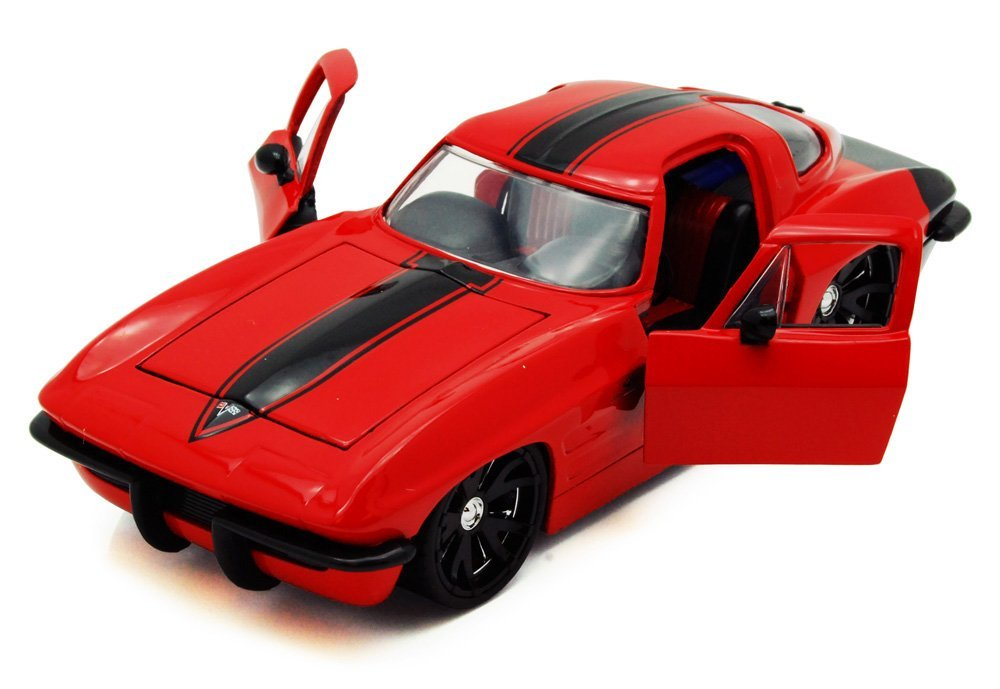 1963 Chevy Corvette Stingray, Red - Jada Toys Bigtime Muscle 90218 - 1/24 scale Diecast Model Toy Car (Brand New, but NO BOX)