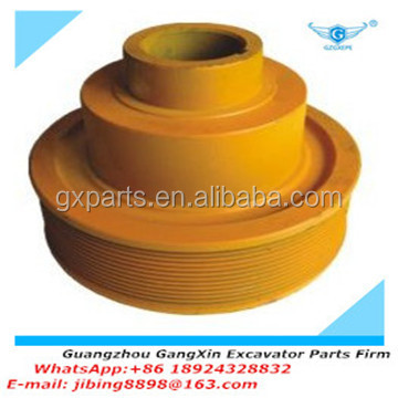 High quality E320B crankshaft belt pulley for excavator with factory price