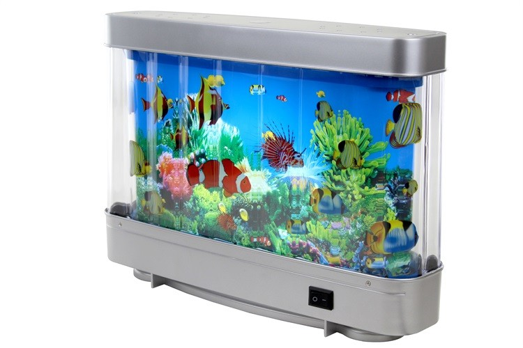 Amazon hot sale nice gift fish tank led aquarium light abs for Fake artificial aquarium fish tank