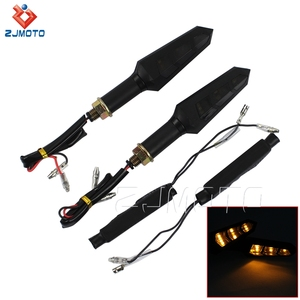 ZJMOTO Universal LED Black Motorcycle Sequential Amber Light Blinker Indicators For Sale