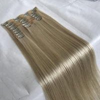 2018 High Quality Factory Brazilian Cuticle Aligned Virgin Remy Seamless Clip in Human Hair Extensions