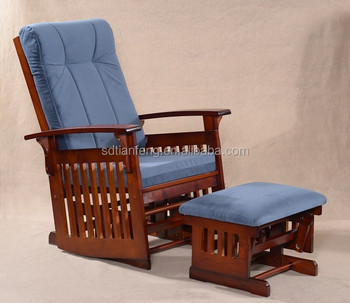 Por Wooden Rocking Chair And Stool Black Red Brown
