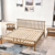 Solid wood American style cheap bed wooden