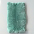 Dyed Two Colors Chinchilla Rex Rabbit Fur Throw Thick Soft Rex Rabbit Fur Plate for Carpet Blanket