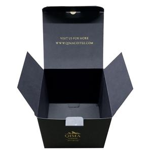 Gold foil black board paper box Coffee been small inner packing box