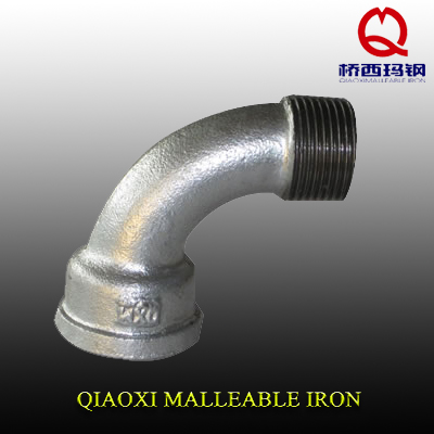 UK market DIN standard malleable iron fitting Female 90 degree pipe Bends