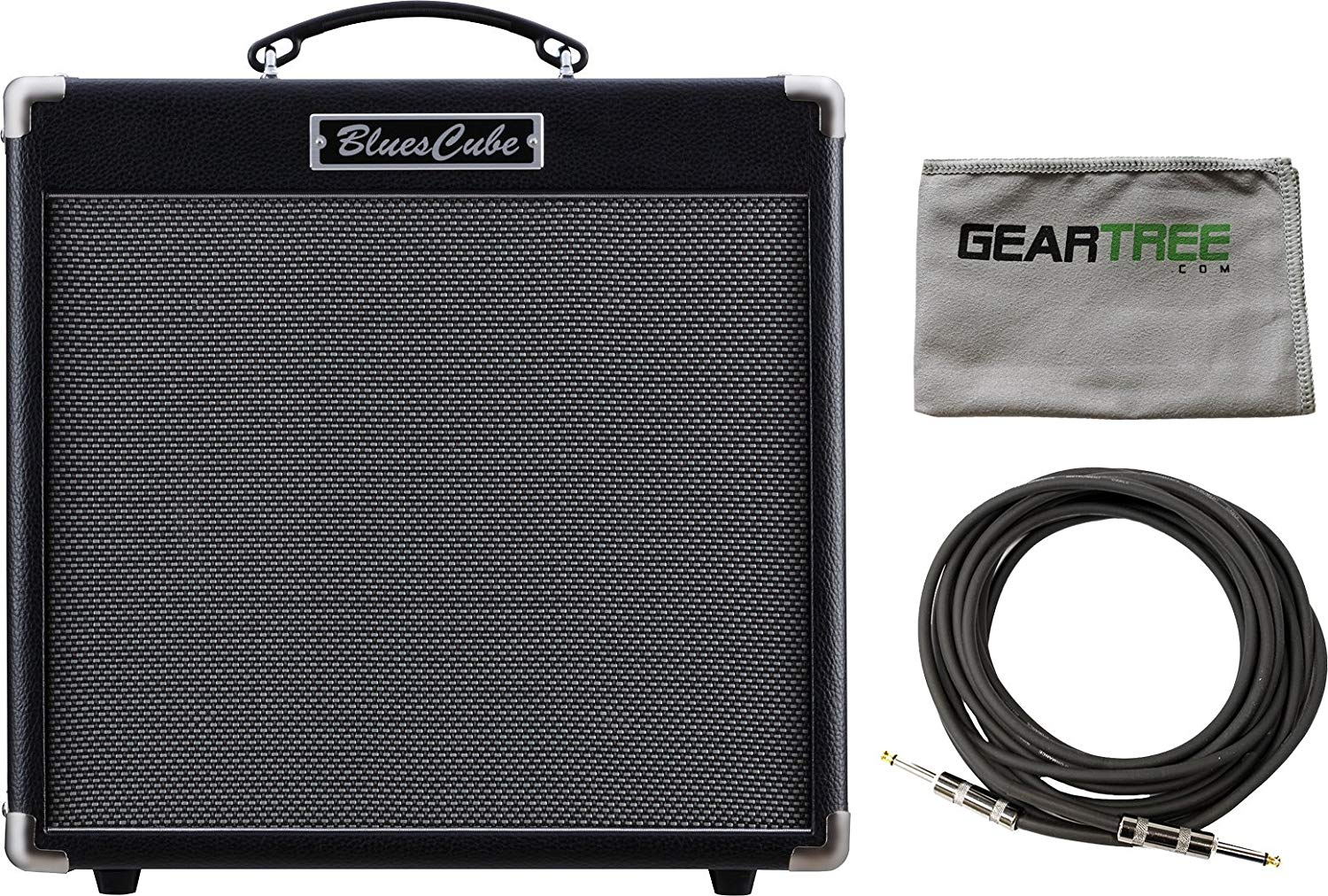 Roland Blues Cube Hot 30W 1X12 Combo Guitar Amplifier w/Polish Cloth and Cable