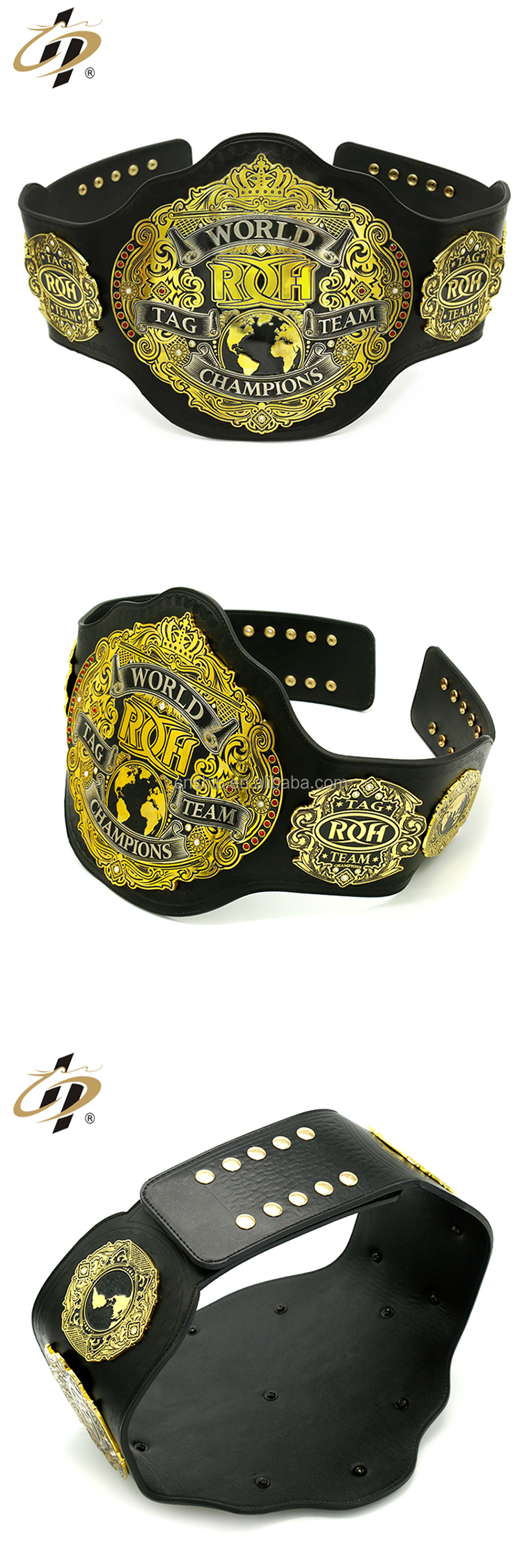 Custom Metal Alloy Heavy Leather Championship Belts