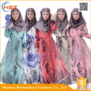 Zakiyyah69160 2016 Hotsale Indian Fancy Dress For Girls Turkish Hijab With Chiffon Islamic Long Sleeve Abaya Pakistan