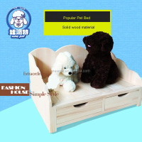 Cheap eco-friendly fashion design dog house bed dog house wooden fence with drawer