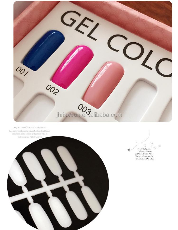 Risesun Nail Polish Color Chart Display Book