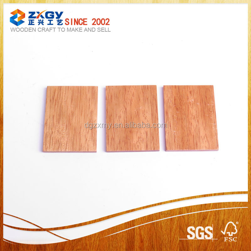 Package of 100% unfinished wood rectangles sheets for crafting labeling and creating