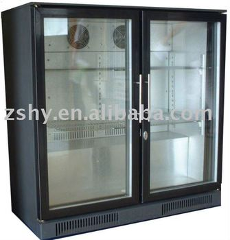 Black bar fridge(hinged door)