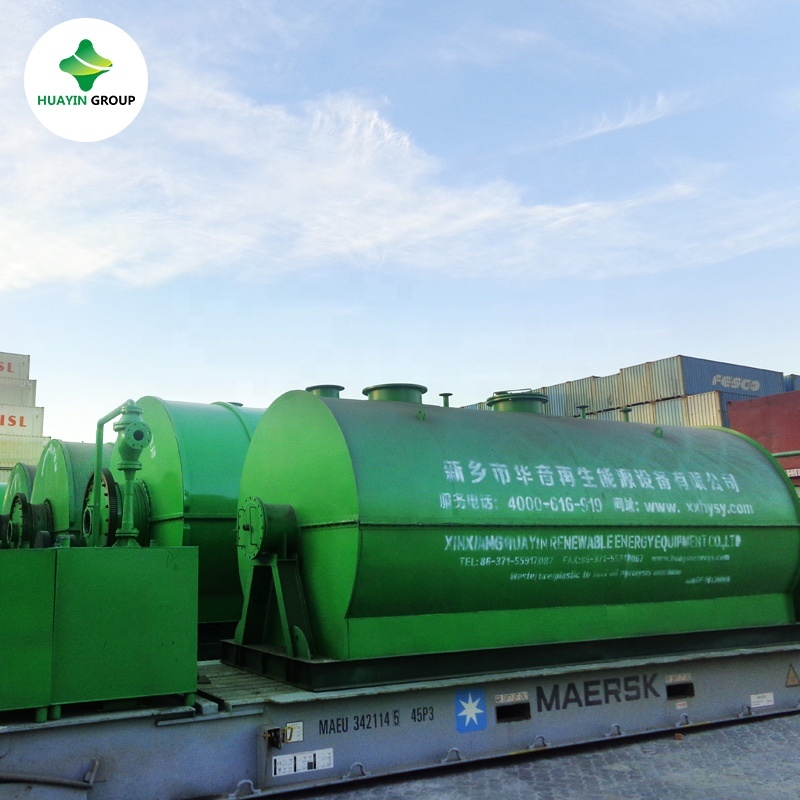 Small waste tyre and plastic to biodiesel machine Huayin Plant