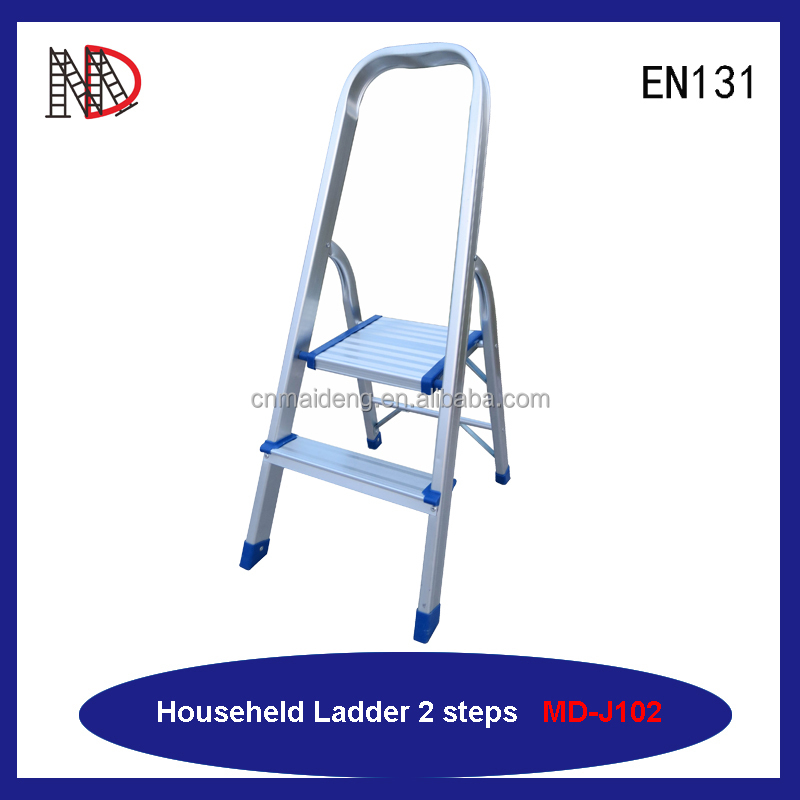 ALUMINUM STOOL LADDER 2 STEP WITH 150KG LOAD CAPACILITY