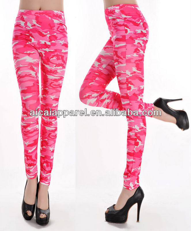 2016 Newest Pink Army camouflage leggings women
