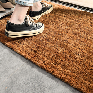 50*80cm size mat coir doormat rubber door mat carpet brown plain coco doormats backed non slip floor mats