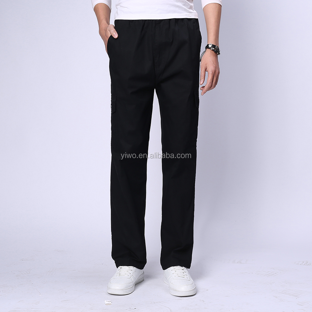 New OEM wholesale men 100% cotton Custom cargo pants