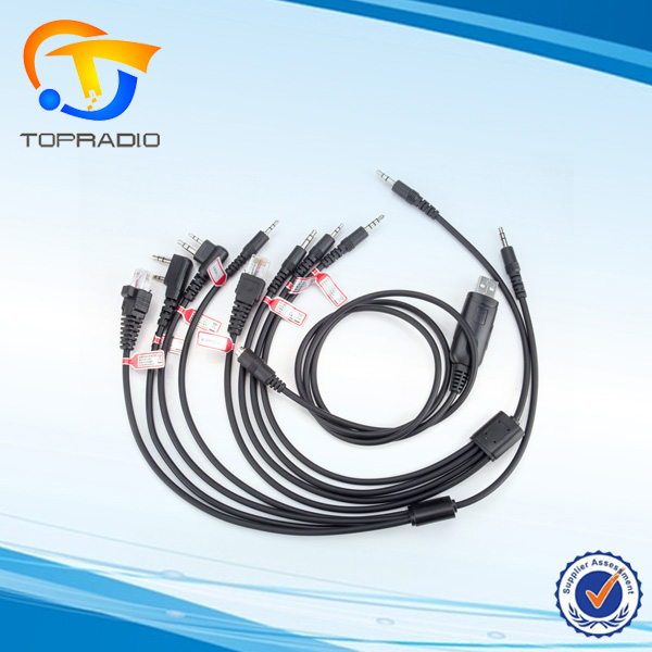 8 in 1 Programming Cable For Walkie Talkie BaoFeng UV-5R for Yaesu lcom Wouxun HYT for Kenwood Radio Car Radio