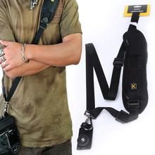 Black Padded Camera Shoulder Strap Quick Neck Adjustable Straps Rapid Camera Strap for DSLR/SLR Photo Studio Belts Free Shipping