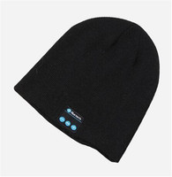 Wireless chargeable bluetooth winter beanie hats knitted beanie hat with bluetooth