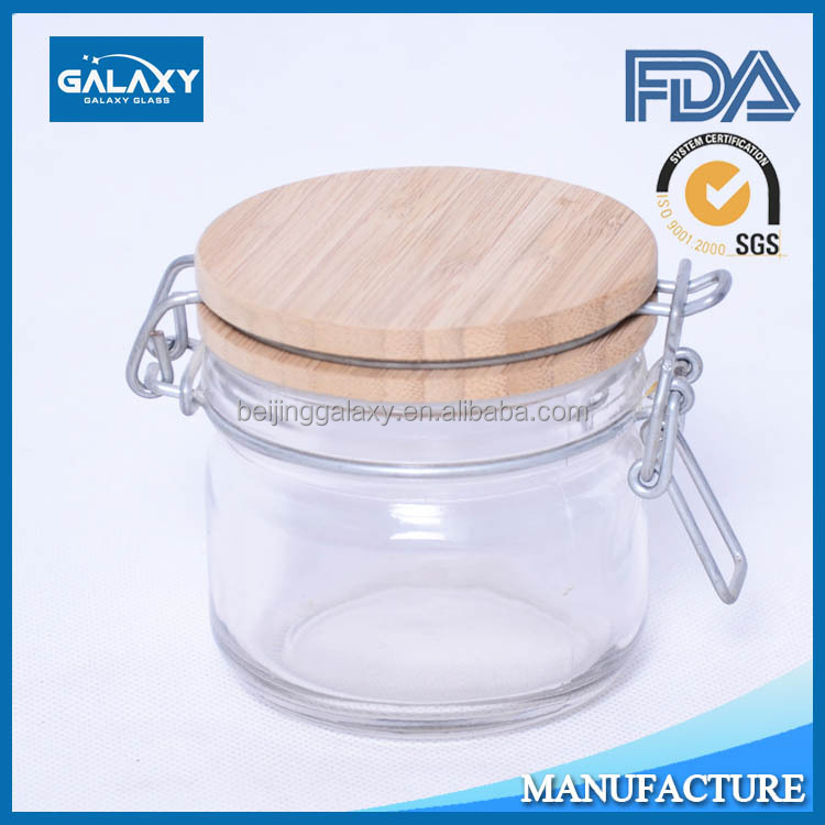 4 Oz Glass Jar With Bamboo Lid, 4 Oz Glass Jar With Bamboo Lid Suppliers  And Manufacturers At Alibaba.com