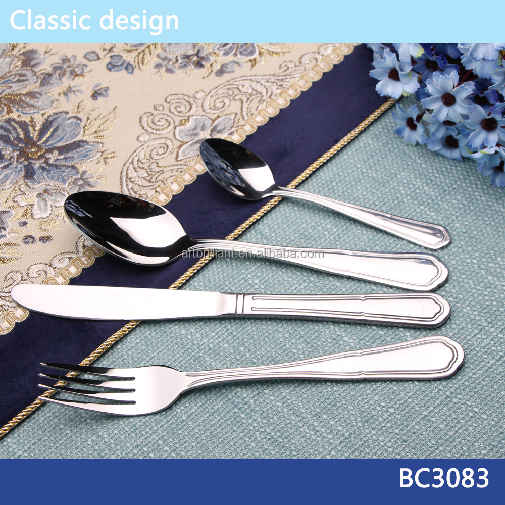 Stainless steel 72pcs cutlery set for wedding promotion family dinner flatware