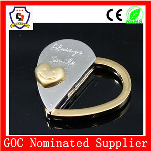 heart couple keychain, competitive price metal keychain magnetic keychian(HH-key chain-1024)