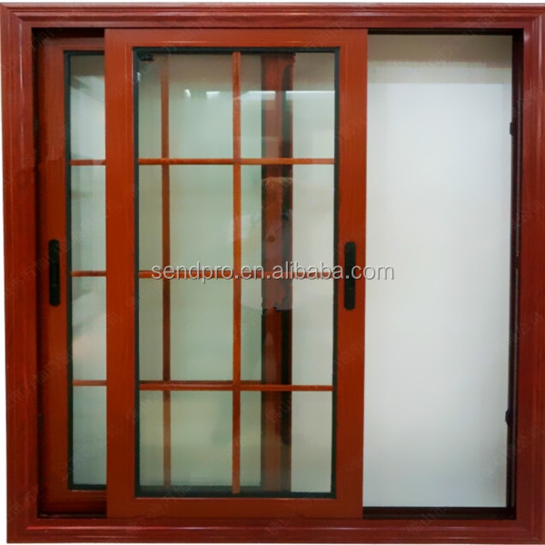 Cheap Price Aluminum Sliding Window With Grill Design