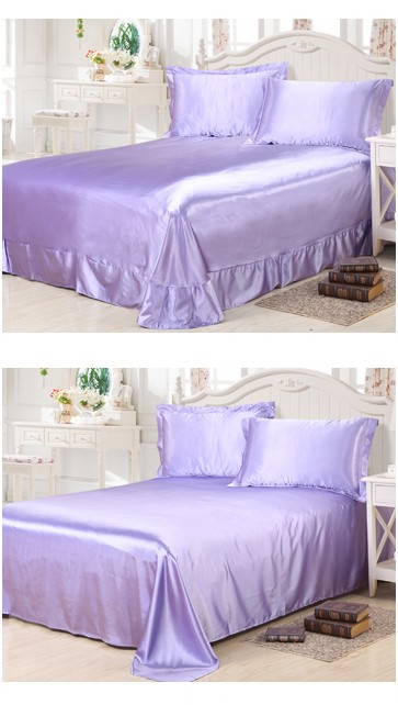 buy light purple lilac bedding sets california king size queen full fitted silk. Black Bedroom Furniture Sets. Home Design Ideas