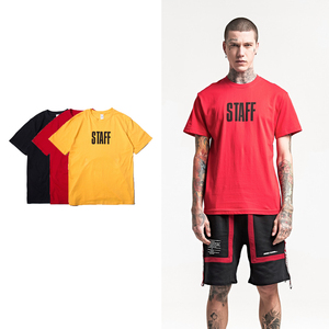men's t-shirt Europe and the United States new men Bibo English printing T-shirt high street short-sleeved t-shirt