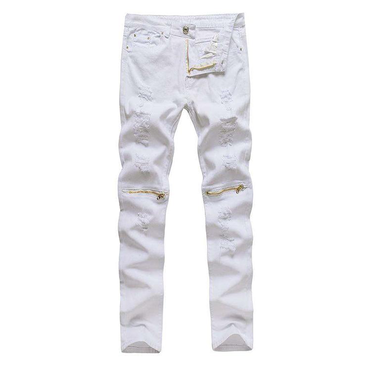 44c88f5b7 Catálogo de fabricantes de Blanco Jeans Con Cremallera de alta ...
