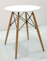 Cafe style round MDF top small table,latest dining table designs