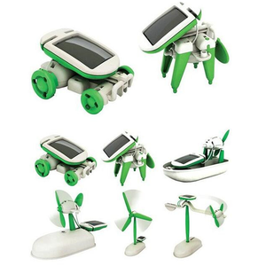 Newest fashion kids Educational 6 in 1 DIY robot kit Solar energy toy