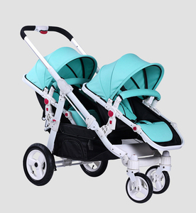 China Manufacturer 4 Wheel Baby Stroller Twins Stroller 2 seat for twins wholesale