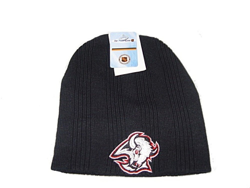 low priced ae7a5 729bd Get Quotations · NHL Buffalo Sabres Adult Ski   Skate Beanie   Winter  cuffless Hat black
