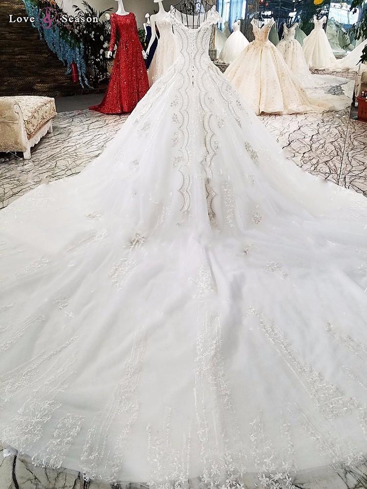 Ls33088 Suzhou Love Season Princess Cut Wedding Dresses Lace Sheath ...
