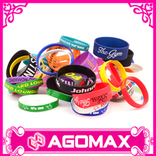 Customized glow embossed debossed silicon wristband bracelet