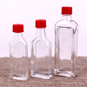 Clear 7ml 14ml 36ml 43ml 50ml medicated oil glass bottle safflower oil bottle with plastic screw cap