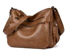 Кожаная женская повседневная сумка-тоут, сумка-тоут, женская сумка на плечо, сумка-мессенджер, Женская Ручная Сумка Bolsa Feminina, новинка, хит про...(Китай)