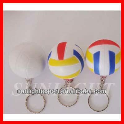 Personnalisé PU balle anti - stress volleyball conception PU trousseau