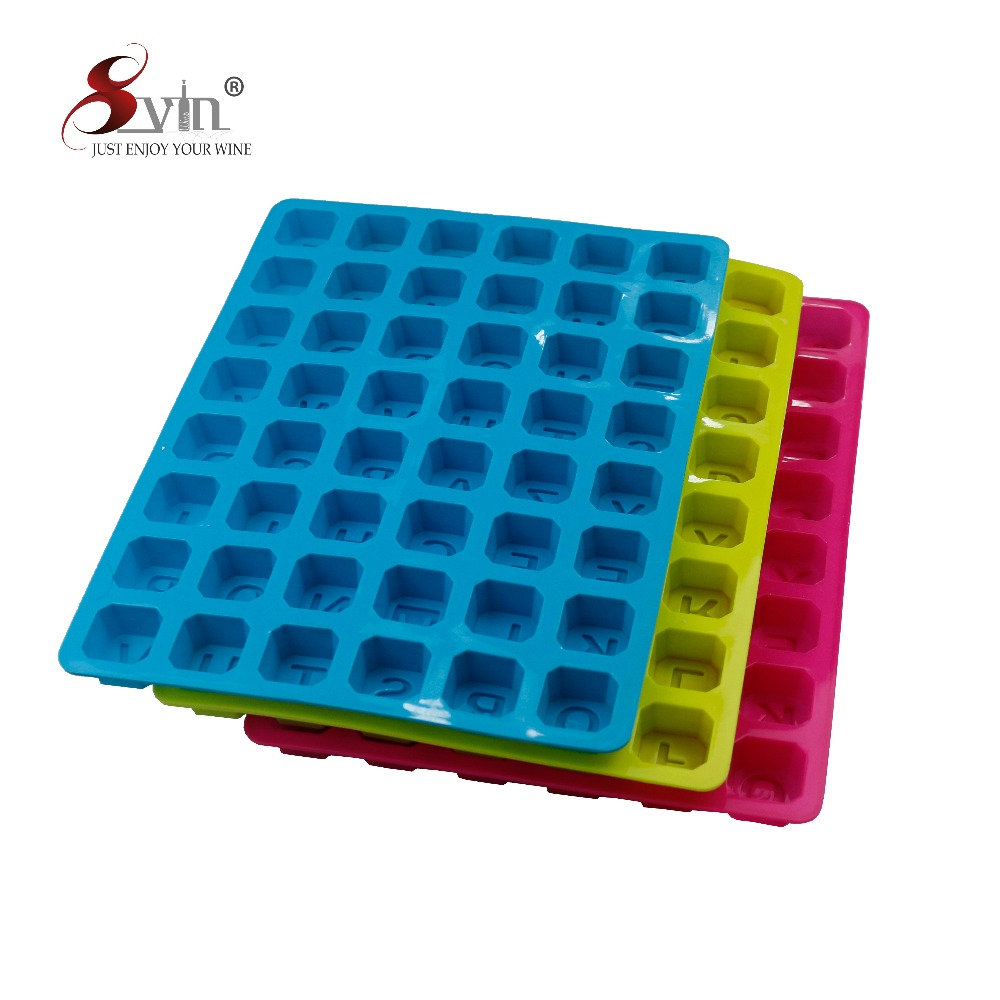 Heat Resistant Silicone letter Shaped Silicone Soap Mold Cake Mold