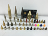 Wholesale New Punk Rock Stock Brass Spikes For Shoes Studs Spikes